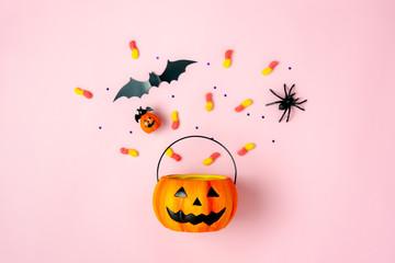 A Halloween basket.