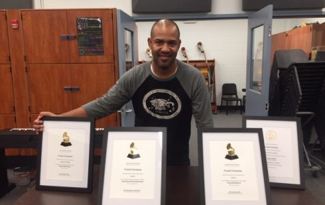 Mr. Fontaine with his Grammy nominations.
