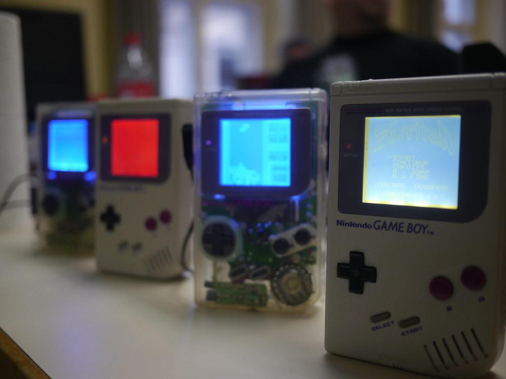 Different Game Boy designs.