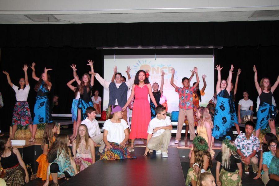 The finale song performed by all the cast B members in the musical.