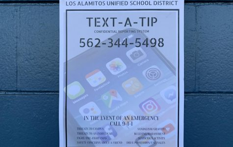 The Text-A-Tip posters are located in all of the classrooms.