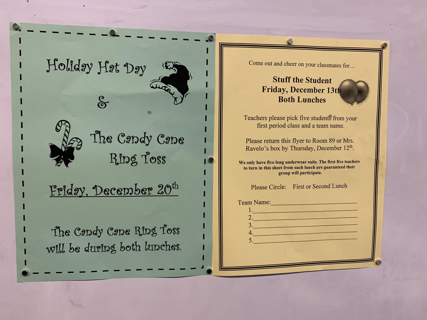 ASB winter event flyers.