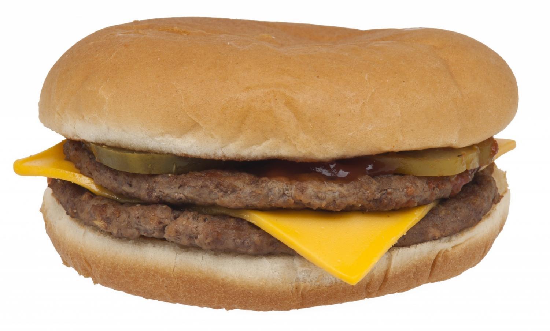 McDonald's double cheeseburger.