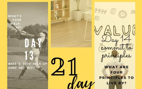 21 Day Challenge poster.