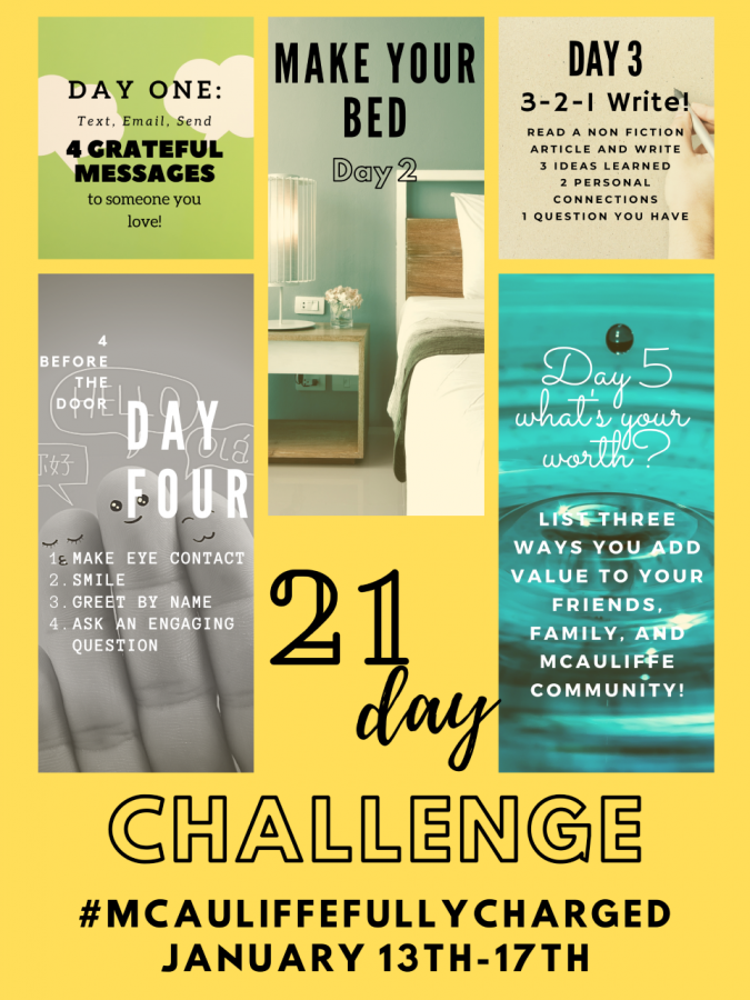 #MCAULIFFEFULLYCHARGED Week One – Post Here!