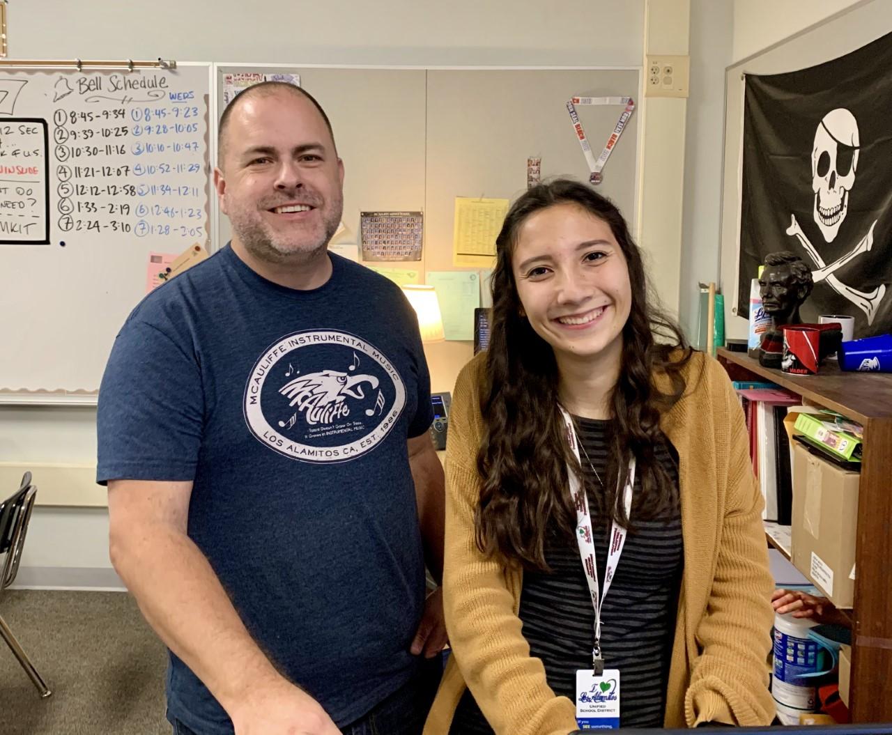 Mr. Thomson and his student teacher, Ms. Gardea.