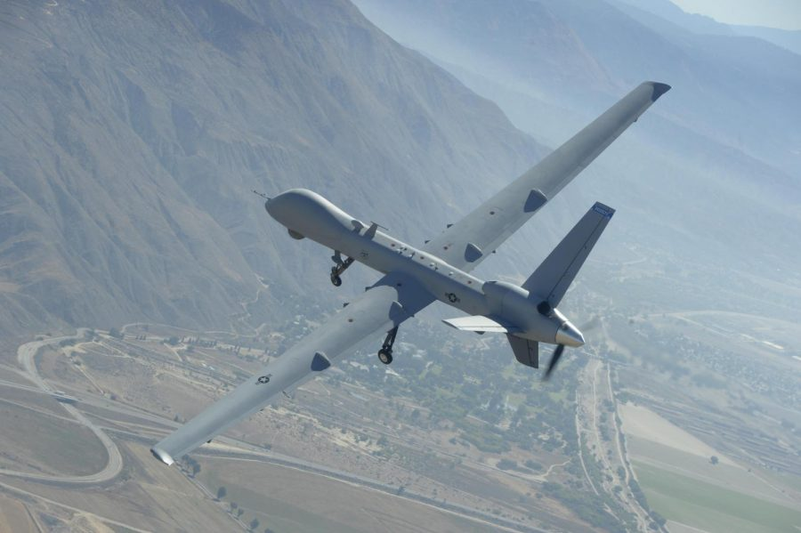 A mq-9 reaper drone that was used in the killing of General Qasem Soleimani.