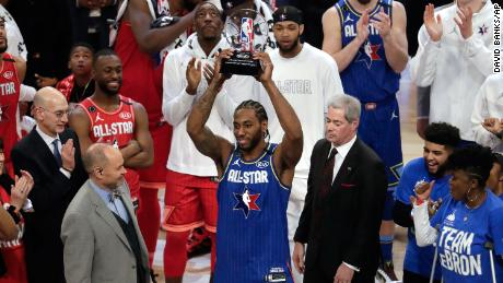 Kawhi Leonard picked as the 2020 NBA-All Star MVP.