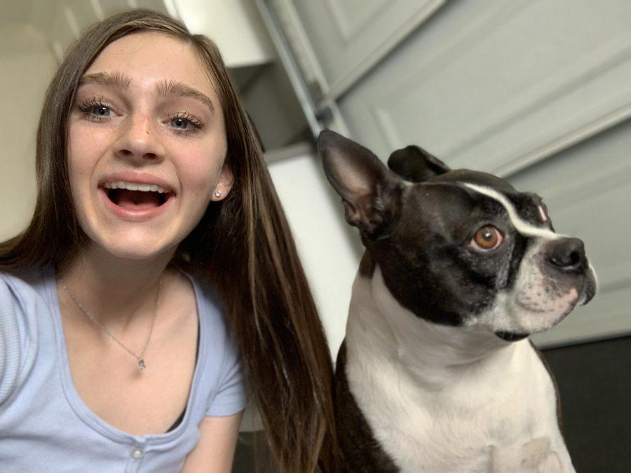 Ava Swietlikowski with her boston terrier, Ruby.