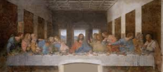 Painting of the last supper.