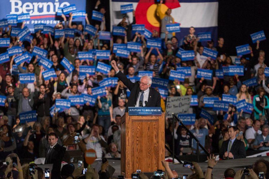 Bernie+Sanders+speaking+at+a+rally.