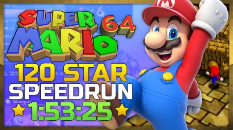 The new world record for 120 star completion speedrun in Super Mario 64.