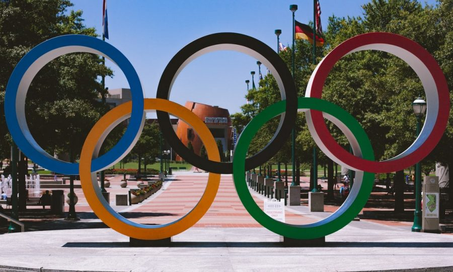 Olympic rings in Atlanta, Georgia.