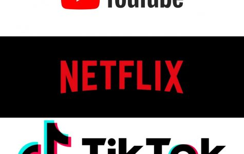 Top: YouTube Middle: Netflix Bottom: TikTok
