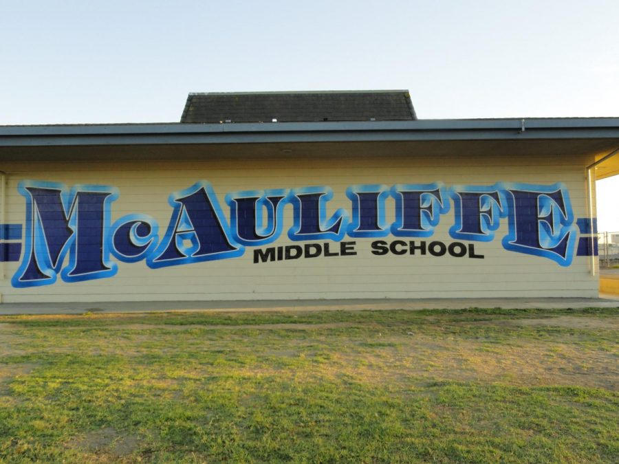 The iconic front of the school.