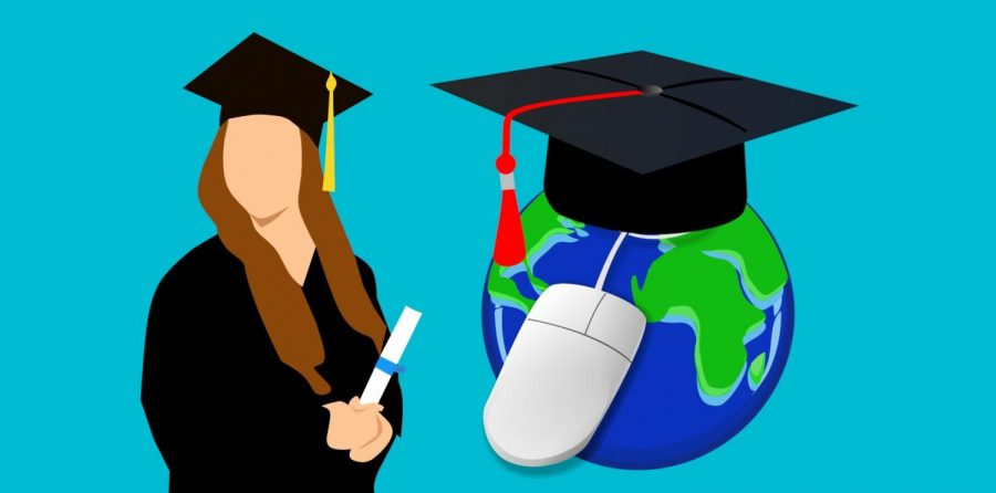 Online+graduation+illustration.+