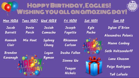 Happy Birthday, McAuliffe Eagles! October 26 through November 1