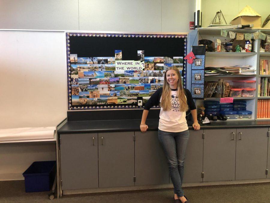 Ms. Bellendir in her classroom