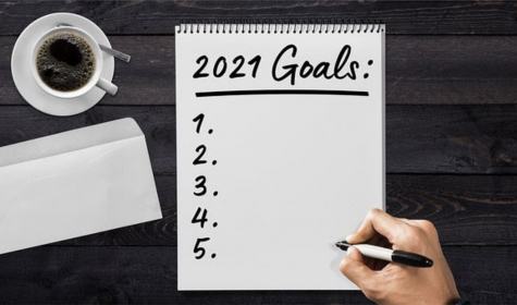 List of goals for 2021