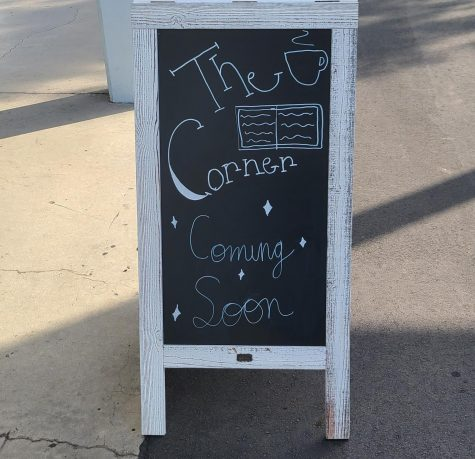 The sign outside of the Corner.