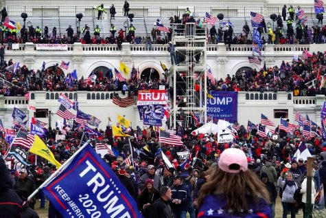The mob of Trump supporters seen swarming the Capitol.