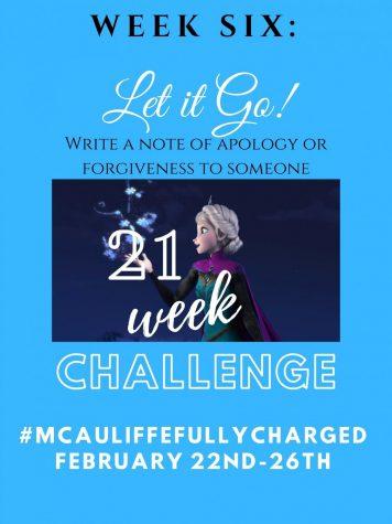 21 Week Challenge Week 6: Let it Go