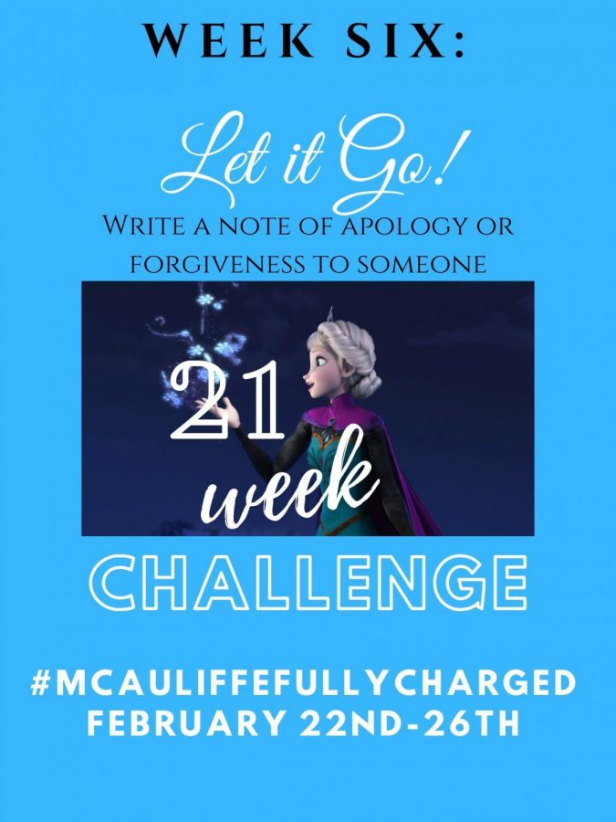 21 Week Challenge Week 6: Let it Go