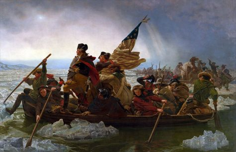 This is an image/painting of George Washington crossing the Delaware.
