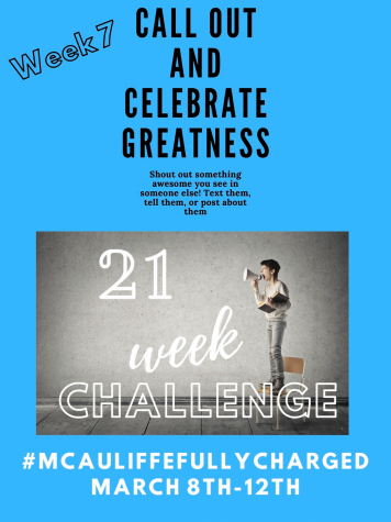 21 Week Challenge-Week Seven-Call Out and Celebrate Greatness