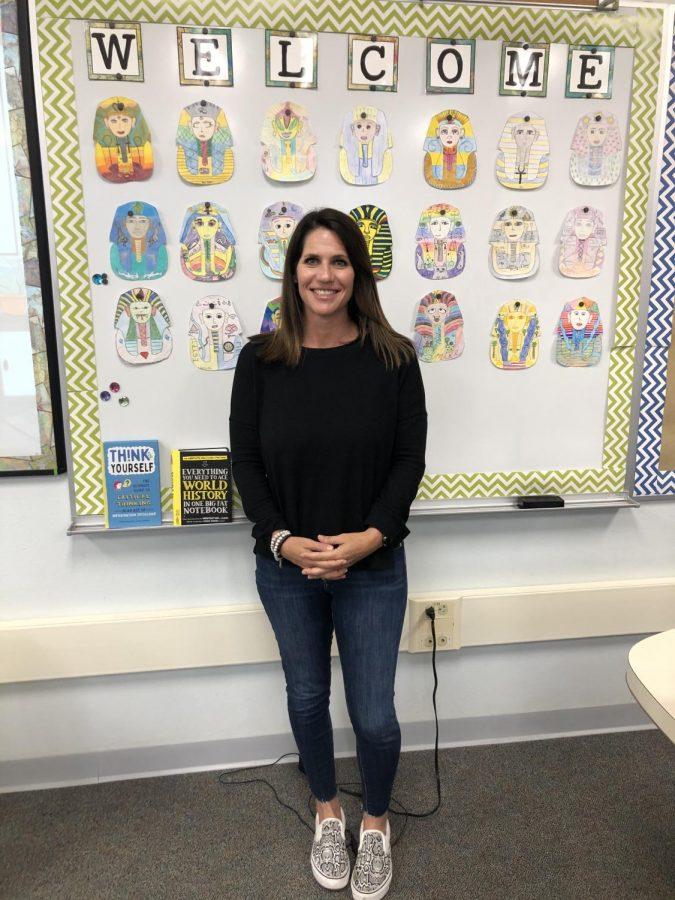 Mrs. Barnett in her classroom.