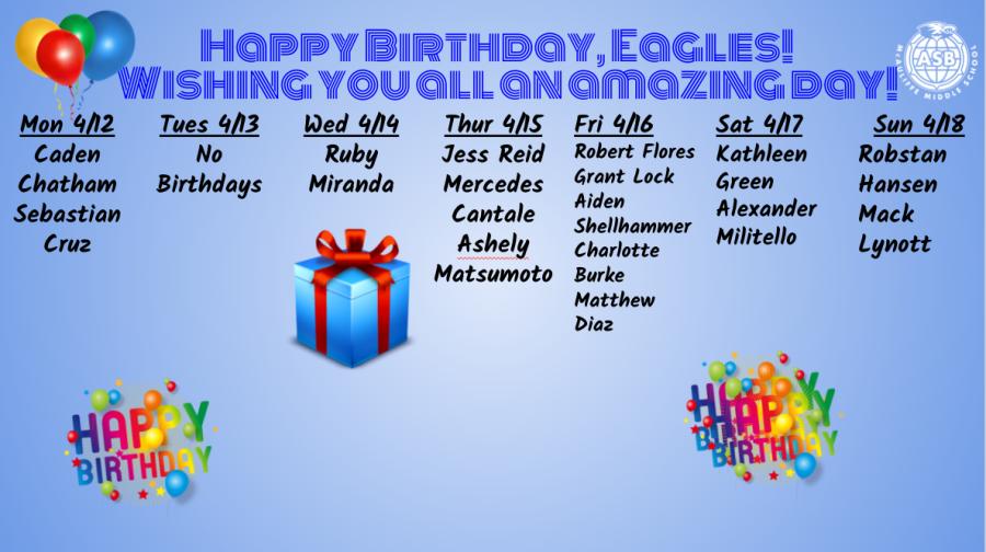 MCA Birthdays!