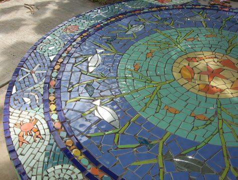 Mosaic design.
