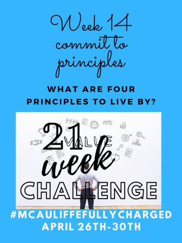 21 Week Challenge Poster.