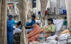 New Delhi Hospitals overrun with Patients.