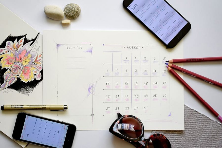 Planning calendars.